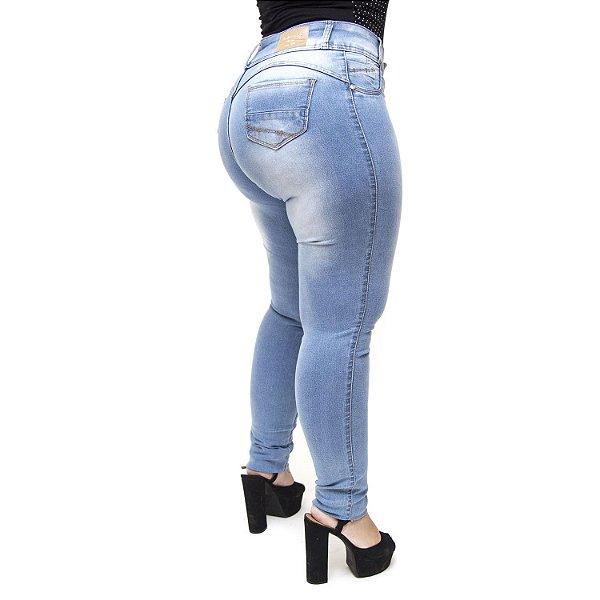 Calça Jeans Credencial Plus Size Skinny Darlene Azul