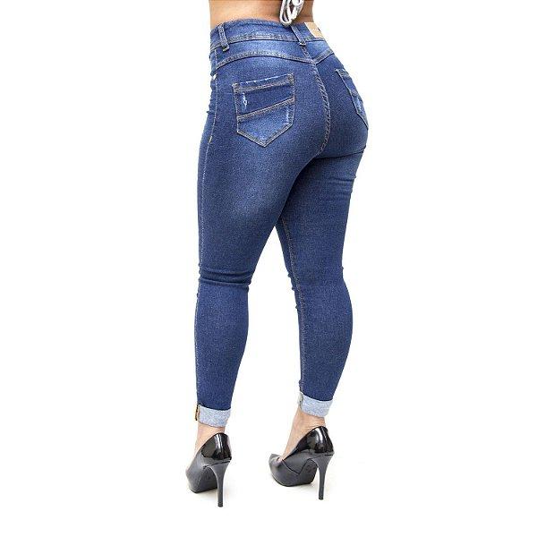 Calça Jeans Credencial Skinny Deucelia Azul