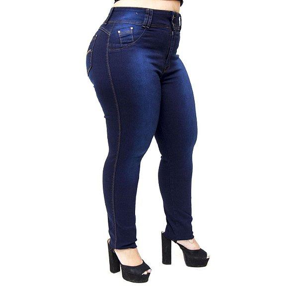 Calça Jeans Wesen Plus Size Skinny Liange Azul