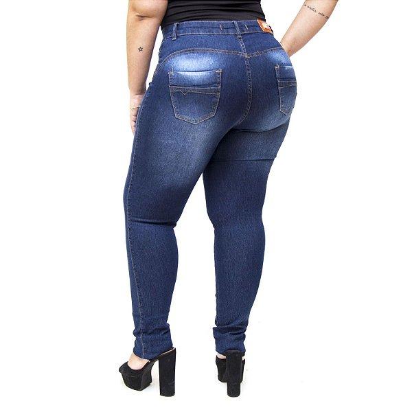 Calça Jeans Thomix Plus Size Skinny Andrelina Azul