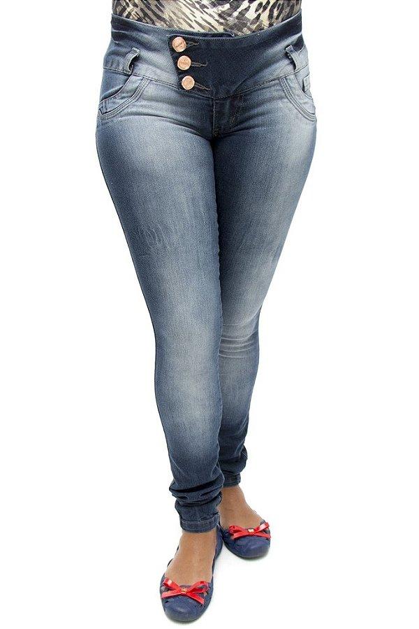 Calça Jeans Feminina Legging Deerf Levanta Bumbum