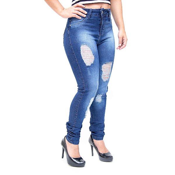 Calça Jeans Feminina Thomix Skinny Garyelly Azul