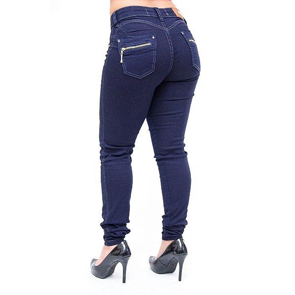 Calça Jeans Feminina Cheris Skinny Cleomagna Azul