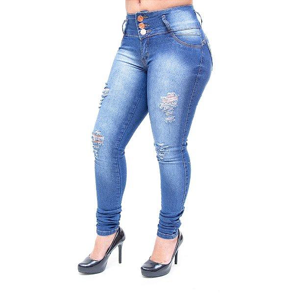 Calça Jeans Feminina Thomix Skinny Hilaira Azul