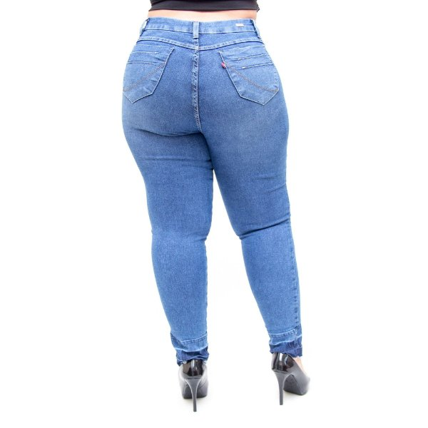 Calça Jeans Cambos Plus Size Skinny Byanca Azul