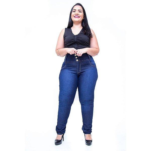 Calça Jeans Cheris Plus Size Skinny Tailane Azul