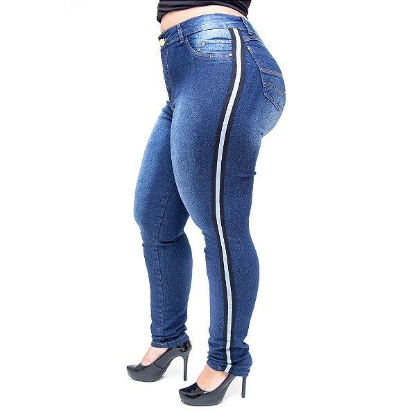 Calça Jeans Cheris Plus Size Skinny Hevilyn Azul