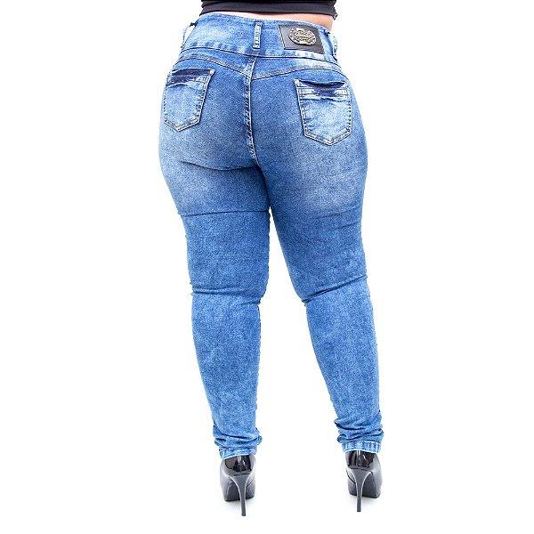 Calça Jeans Thomix Plus Size Skinny Lucelma Azul