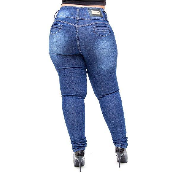 Calça Jeans Thomix Plus Size Skinny Rochelle Azul