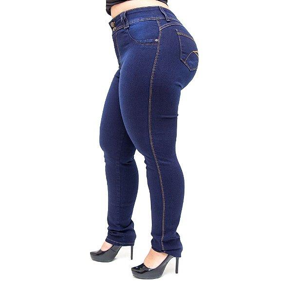 Calça Jeans Wesen Plus Size Skinny Eleonora Azul