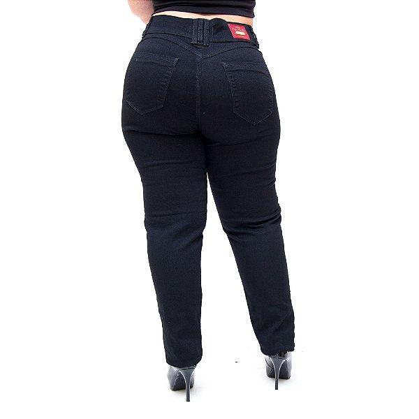 Calça Jeans Wesen Plus Size Skinny Jhessica Preta