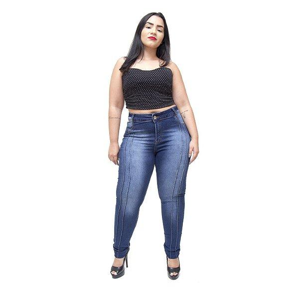 Calça Jeans Credencial Plus Size Skinny Elizia Azul