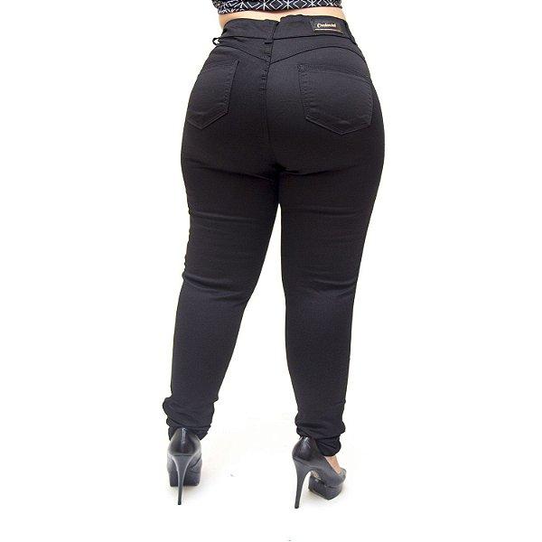 Calça Jeans Credencial Plus Size Skinny Romilda Preta
