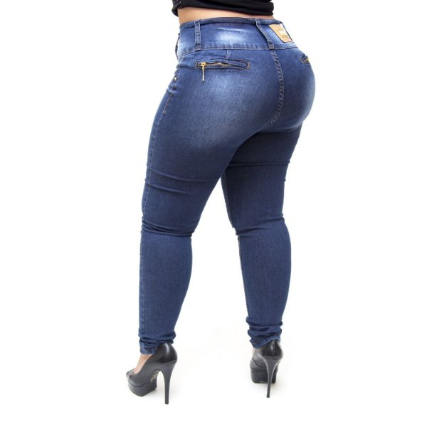 Calça Jeans Credencial Plus Size Skinny Mariam Azul