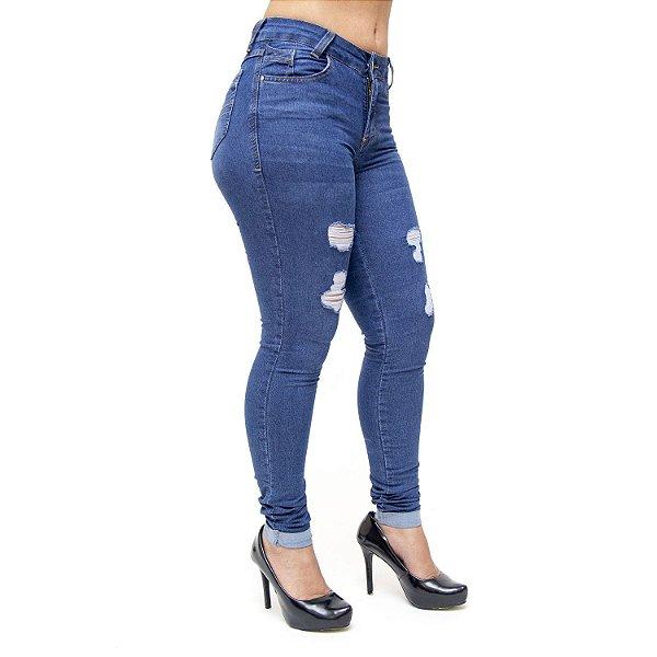 Calça Jeans Feminina Cambos Skinny Herica Azul