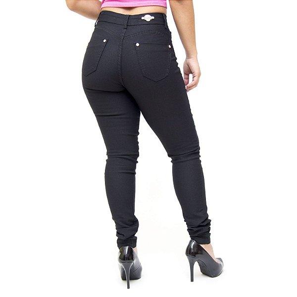 Calça Jeans Feminina Thomix Skinny Divania Preta