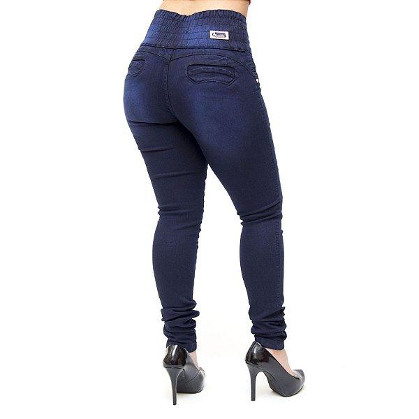 Calça Jeans Thomix Skinny com Elástico Dolaine Azul