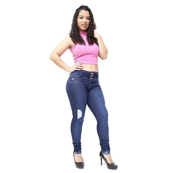 Calça Jeans Feminina Thomix Skinny Stephanee Azul