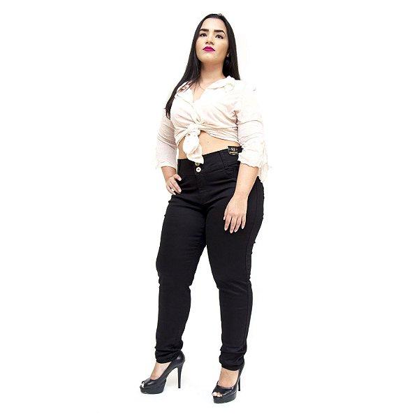 Calça Jeans Credencial Plus Size Skinny Joseneia Preta