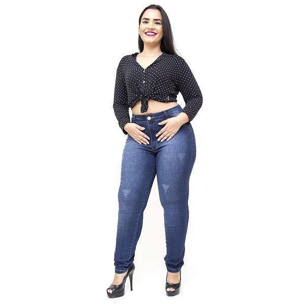 Calça Jeans Thomix Plus Size Skinny Josinete Azul