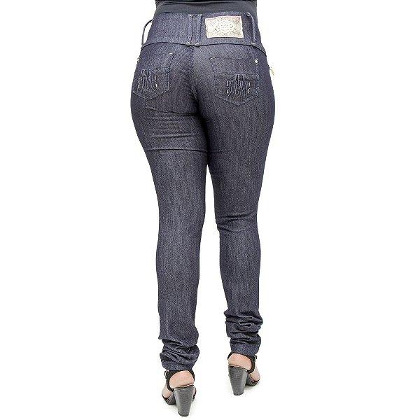 Calça Jeans Feminina Darlook Azul Escura com Elastano