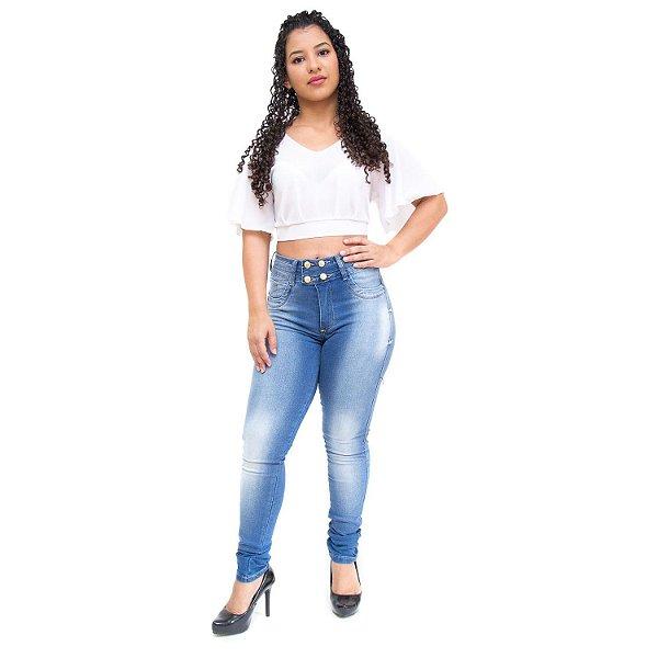 Calça Jeans Feminina Bokker Skinny Ancelma Azul