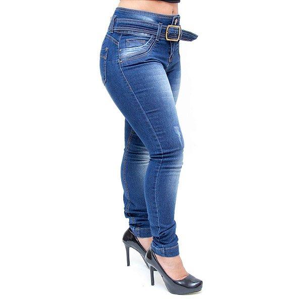 Calça Jeans Feminina W. Pink Skinny Cigarrete Anaia Azul