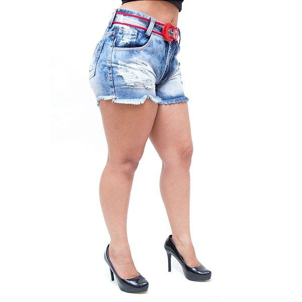 Shorts Jeans Feminino 23 Graus Darliane Azul