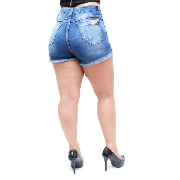 Shorts Jeans Feminino 23 Graus Maurien Azul