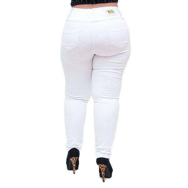 Calça Jeans Credencial Plus Size Skinny Edivanda Branca