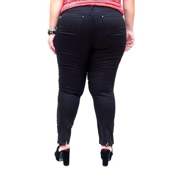Calça Jeans Feminina Bokker Plus Size Skinny Erida Preta