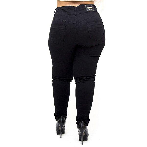Calça Jeans Credencial Plus Size Skinny Danelise Preta