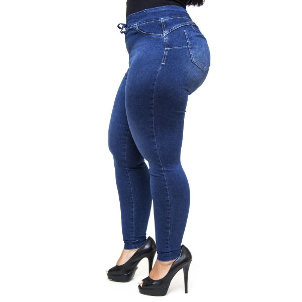 Calça Jeans Feminina Cambos Plus Size Skinny Doracy Azul