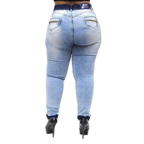 Calça Jeans Feminina Latitude Plus Size Emanuelly Azul