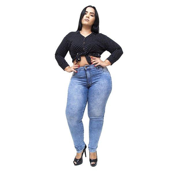 Calça Jeans Feminina Thomix Plus Size Juliandra Azul