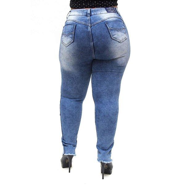 Calça Jeans Feminina Credencial Plus Size Luyssa Azul