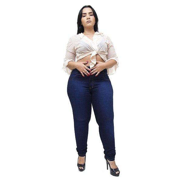 Calça Jeans Feminina Thomix Plus Size Hammylle Azul