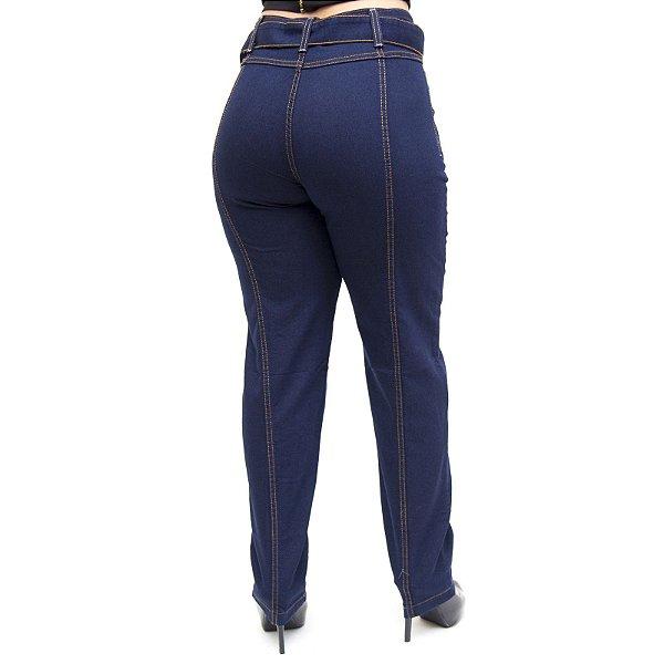 Calça Jeans Feminina Cambos Reta Dandara Azul