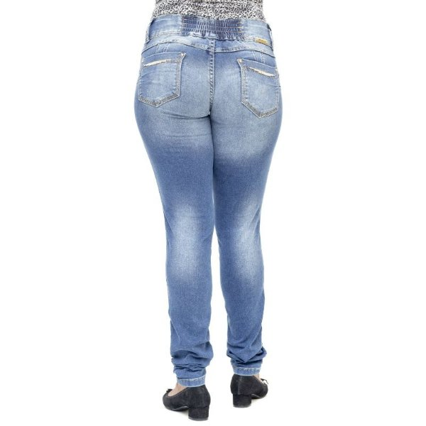 Calça Jeans Feminina Sawary Modela Bumbum
