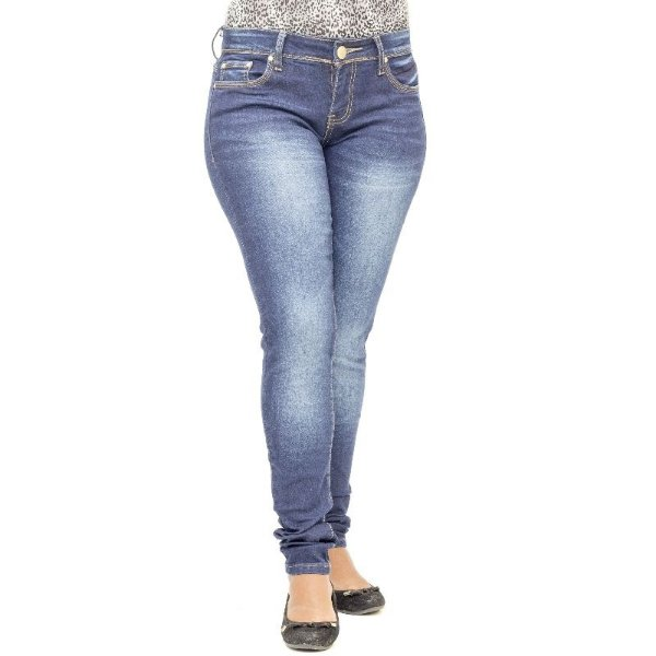 Calça Jeans Feminina Mini Blue Tradicional Lavagem Azul