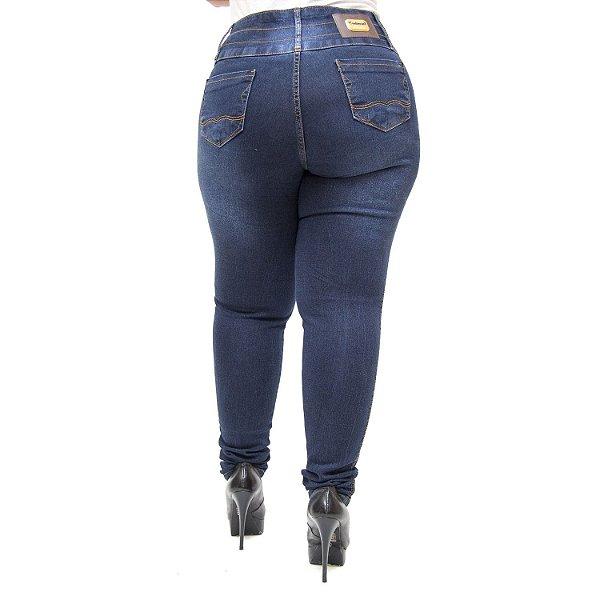 Calça Jeans Credencial Plus Size Skinny Verilaine Azul