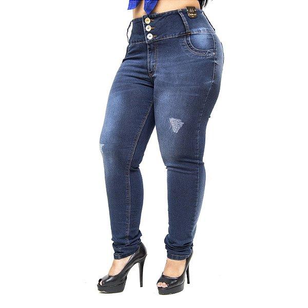 Calça Jeans Credencial Plus Size Skinny Nataniely Azul