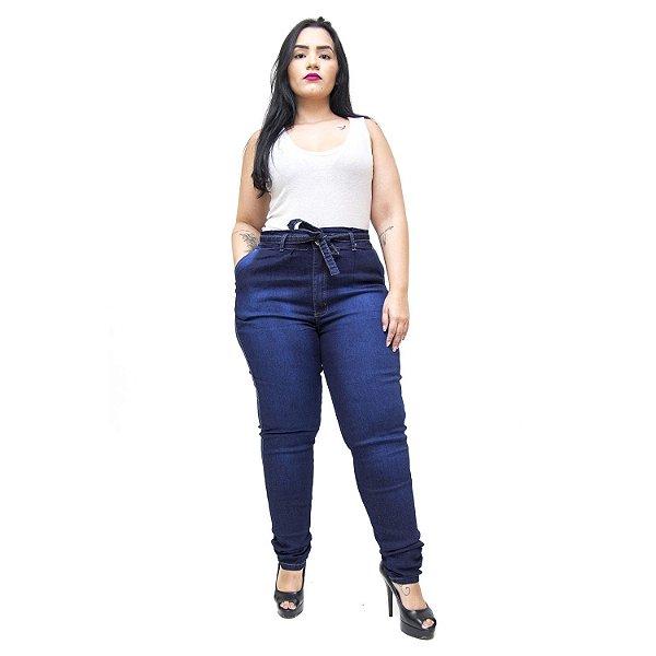 Calça Jeans Feminina Latitude Plus Size Skinny Lahryssa Azul