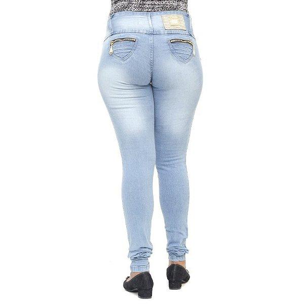 Calça Jeans Legging Feminina Cheris Clara Levanta Bumbum