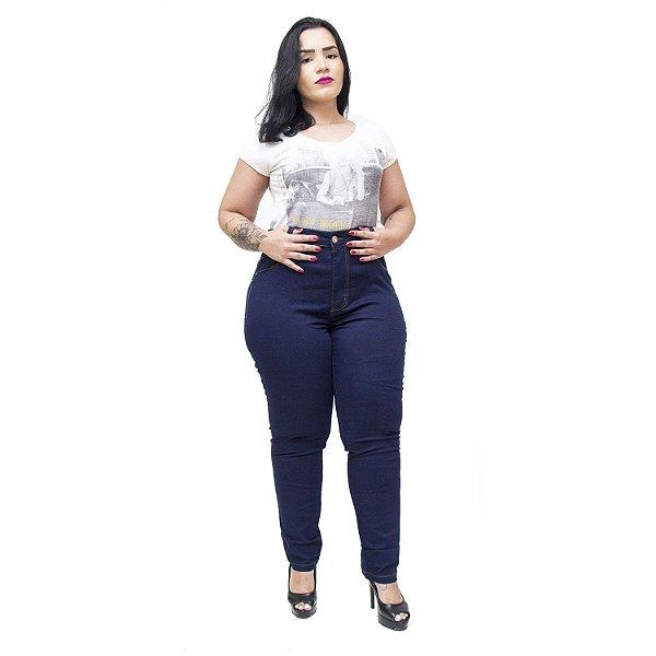 Calça Jeans Feminina Cambos Plus Size Skinny Rosilena Azul