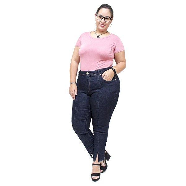 Calça JeanS Unison Plus Size Cigarrete Scarllet Azul