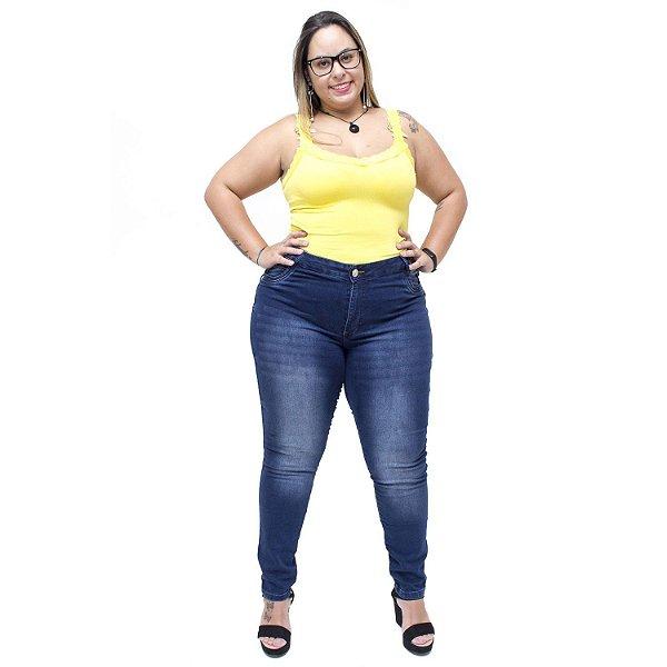 Calça Jeans  Credencial Plus Size Skinny Roseleia Azul