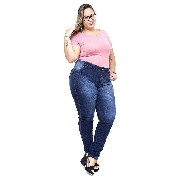 Calça Jeans Feminina Credencial Plus Size Skinny Vereza Azul