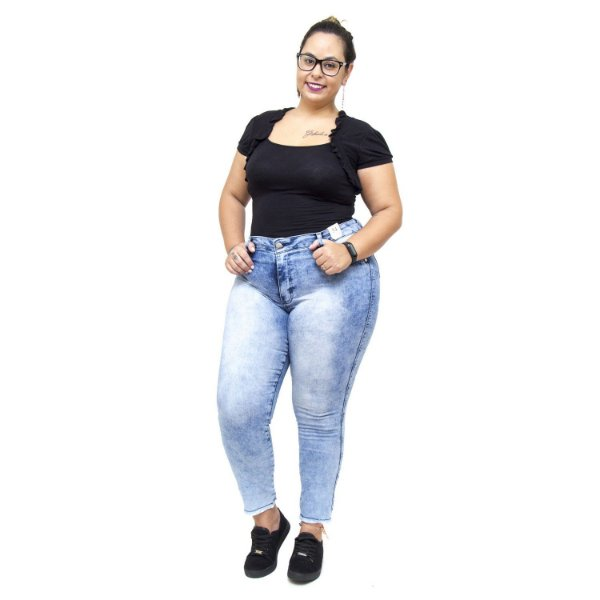 Calça Jeans Credencial Plus Size Cigarrete Ubiracy Azul