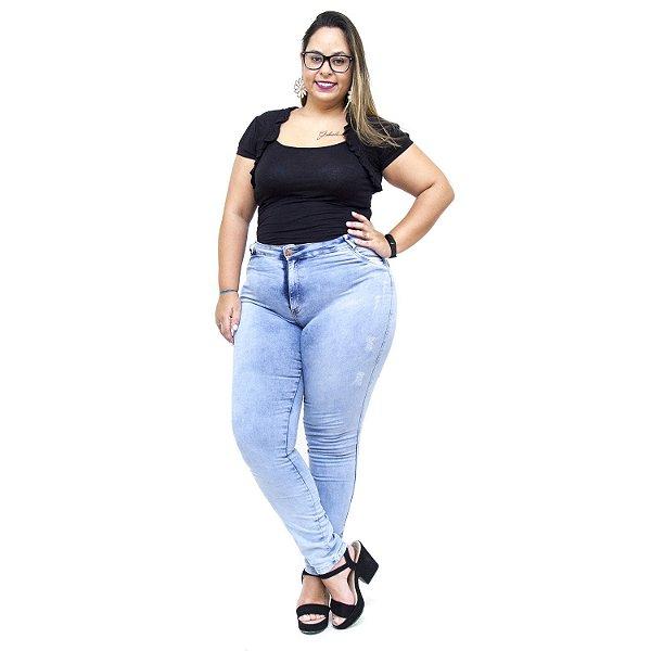 Calça Jeans Feminina Helix Plus Size Skinny Evanise Azul
